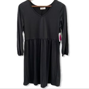 Bobbie Brooks black long sleeve midi dress small